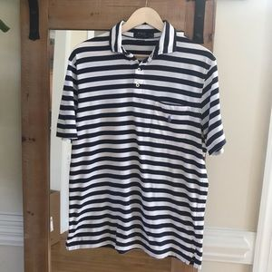 Polo by Ralph Lauren Navy Striped Pocket Polo